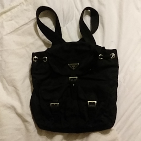 48add01e8ec6 Prada Nylon Black drawstring Backpack. M_5ba57c8baa5719eee7240f7e